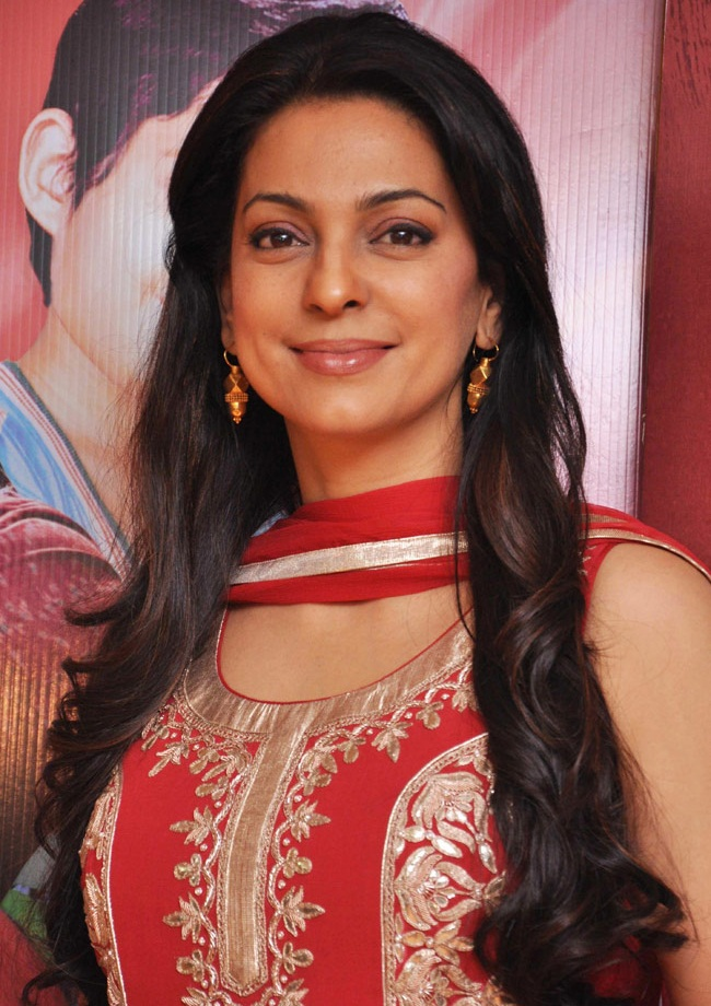 Juhi Chawla Sexy Images At New Movie Promotion Time