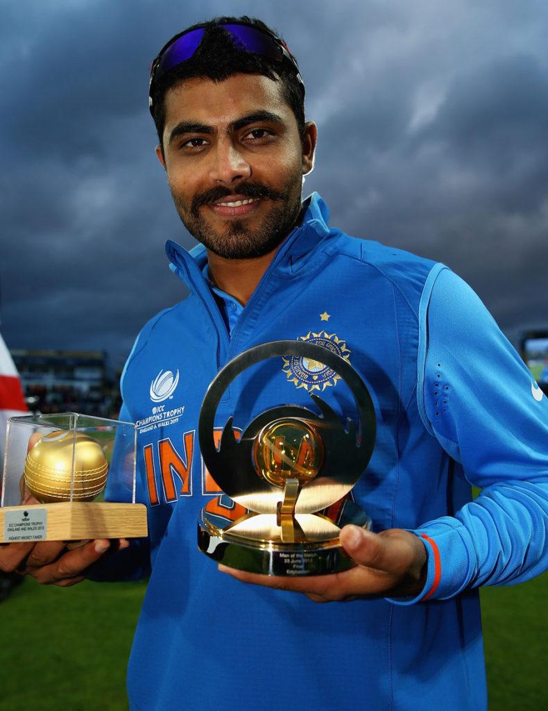 Ravindra Jadeja Pictures With Trophy