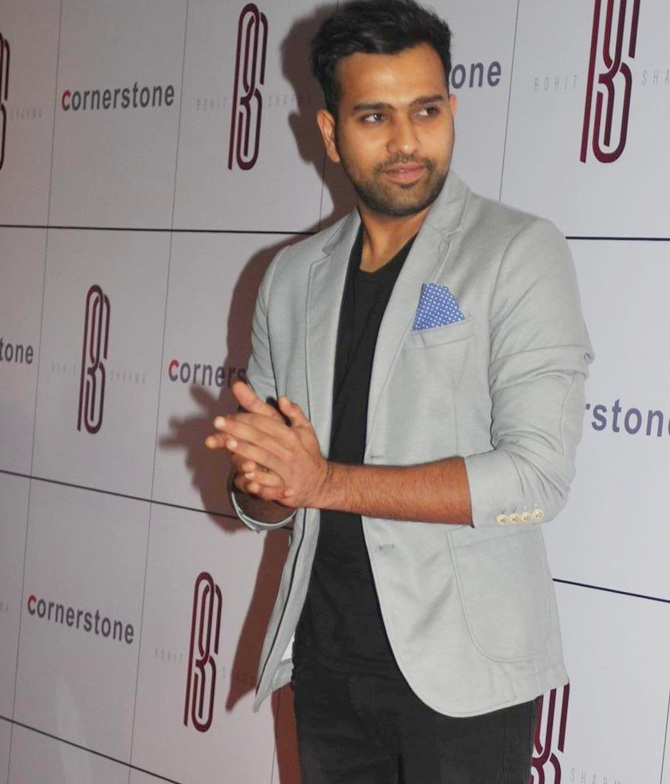 Rohit Sharma Latest Hair Style Pictures
