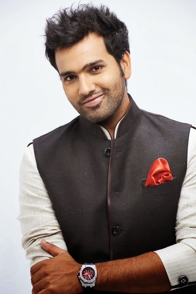 Rohit Sharma New Hair Style Photos