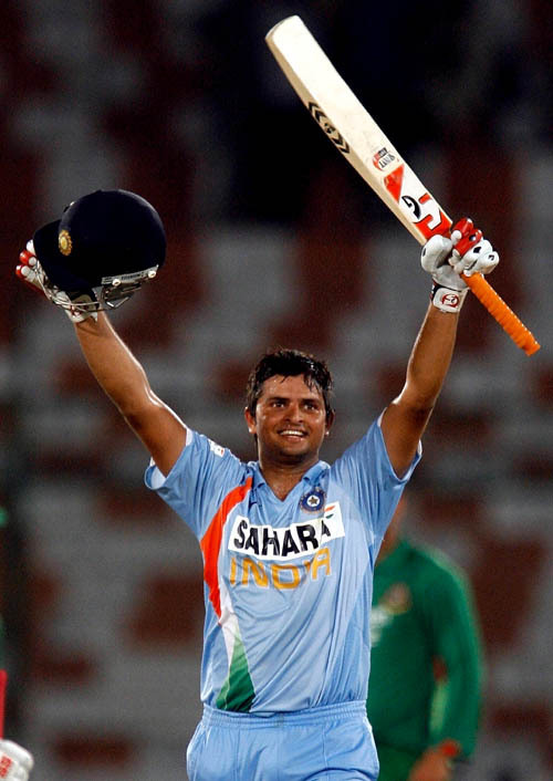 Suresh Raina Beatiful Images With Bat