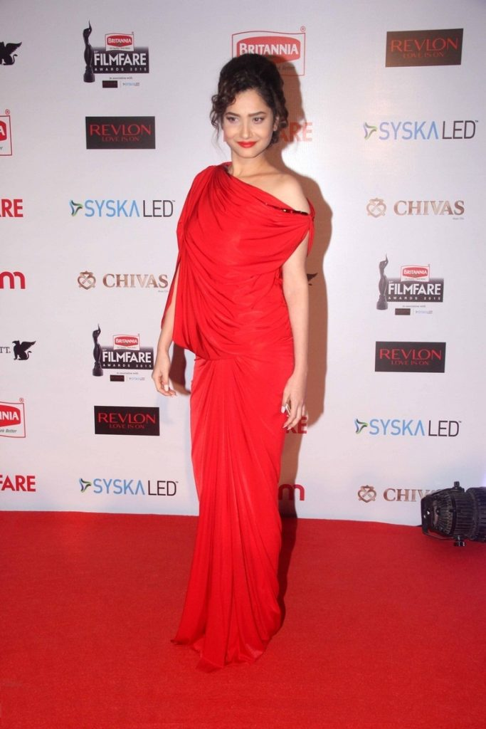 Ankita Lokhande In Red Color Cloths HD