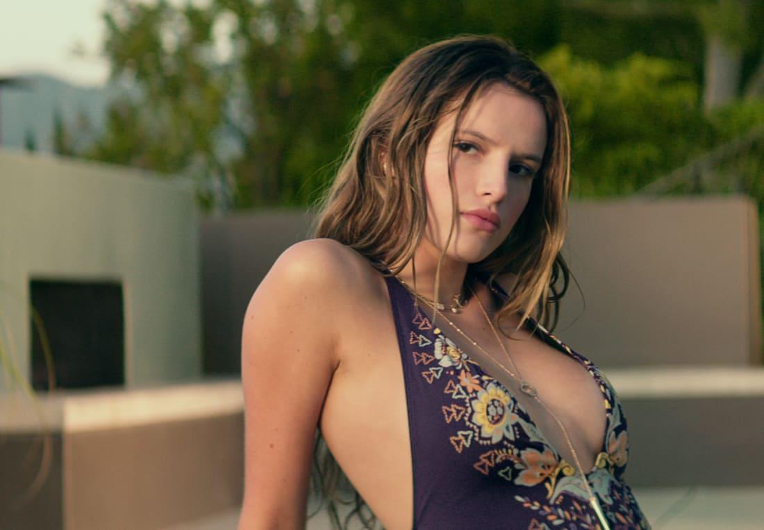 bella thorne hot photoshoot in bikini, bra images & wallpapers
