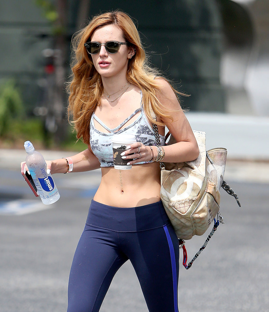 Bella Thorne Hot Looking Images At Work Palace