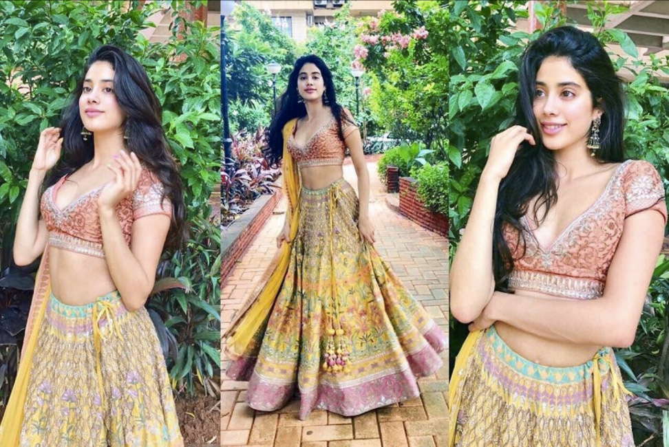 Jhanvi Kapoor Photos In Lehanga Choli