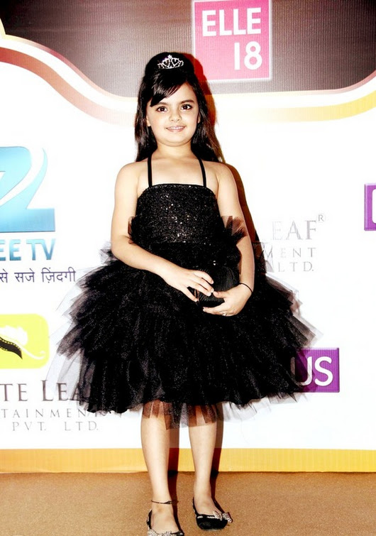 Ruhanika Dhawan In Black Gown Cute Pics
