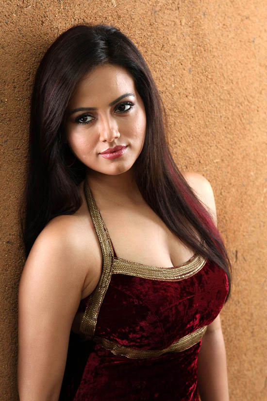 Sana Khan Hot Boobs Showing Pictures HD