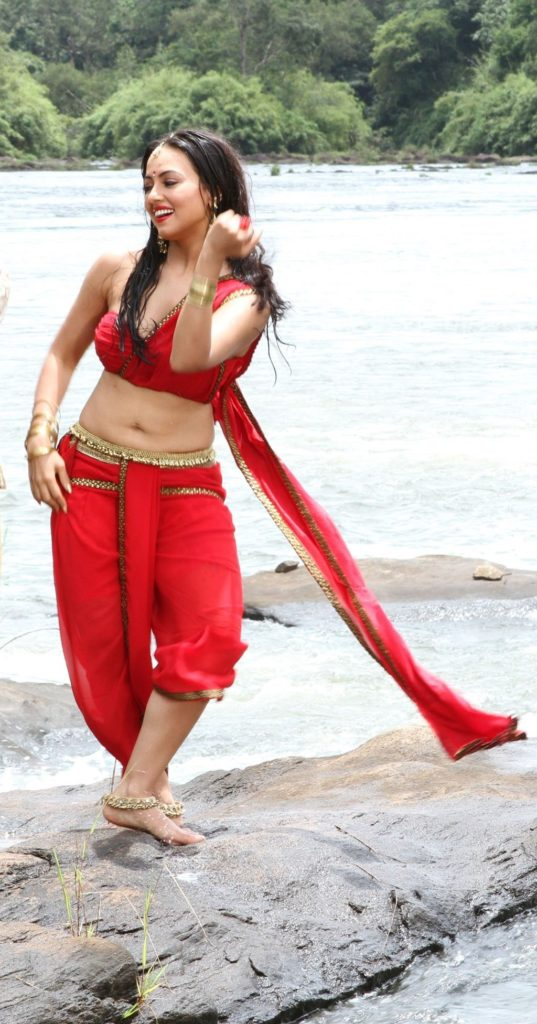 Sana Khan Hot Images In Gagra Choli HD