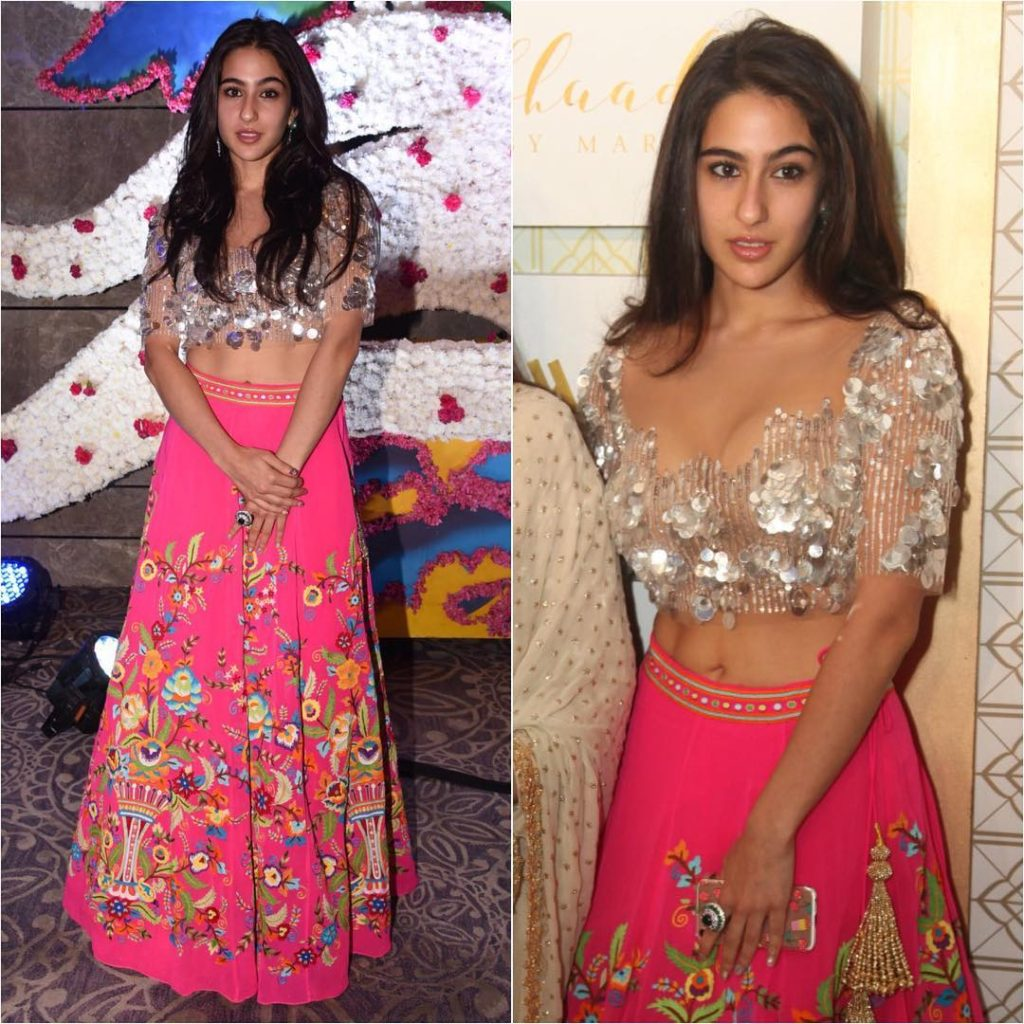 Sara Ali Khan Hot Navel Photos