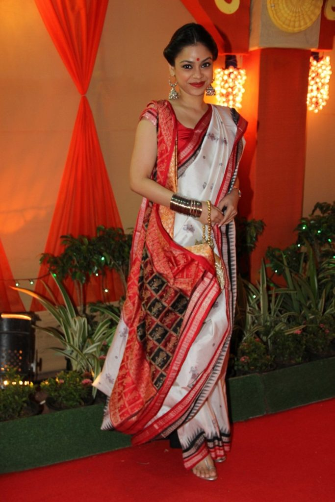 Sumona Chakravarti Hot Looking Pics In Saree