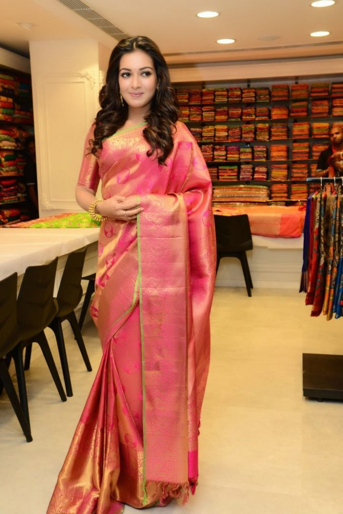 Gorgeous Catherine Tresa Pics In Saree