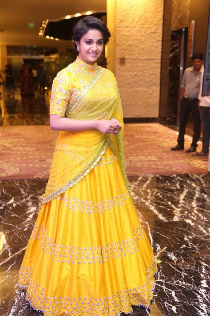 Keerthy Suresh Attractive Wallpapers In Gagra Choli