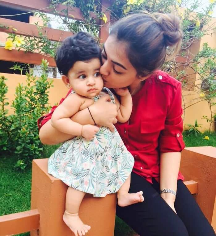 Lovely Nazriya Nazim Images With Cute Baby