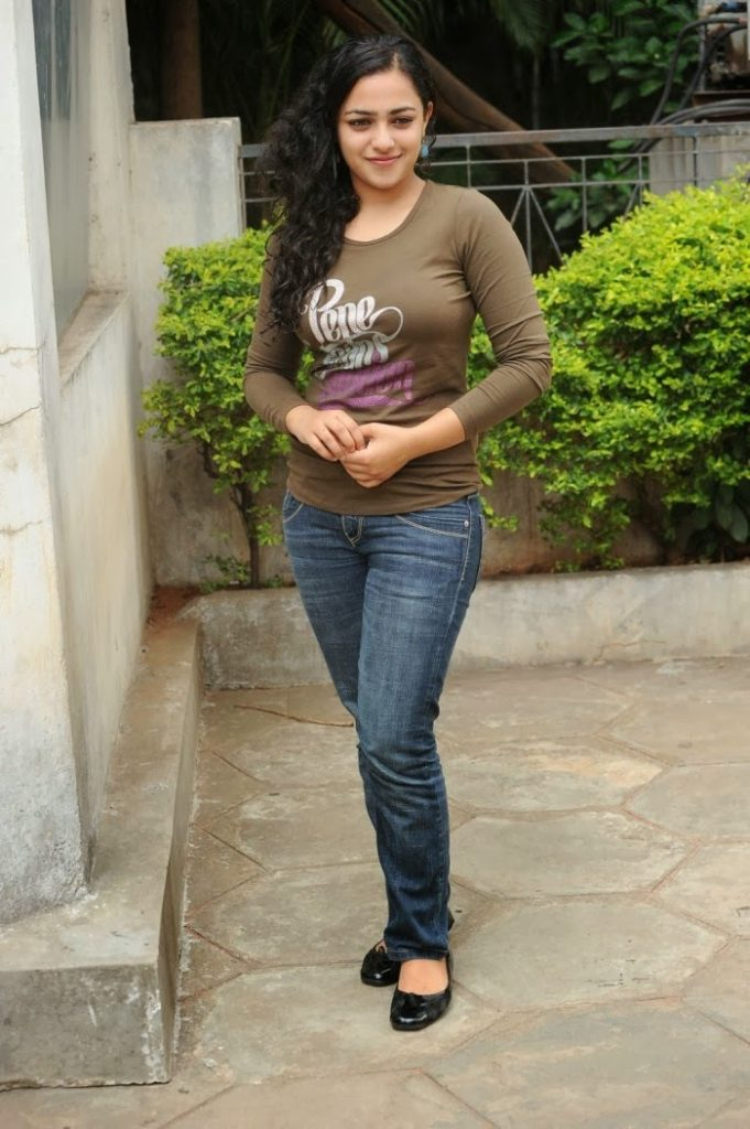 Nithya Menon Unseen Images In Jeans Top
