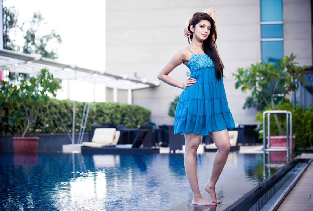 Pranitha Sexy Legs Images In Short Cloths