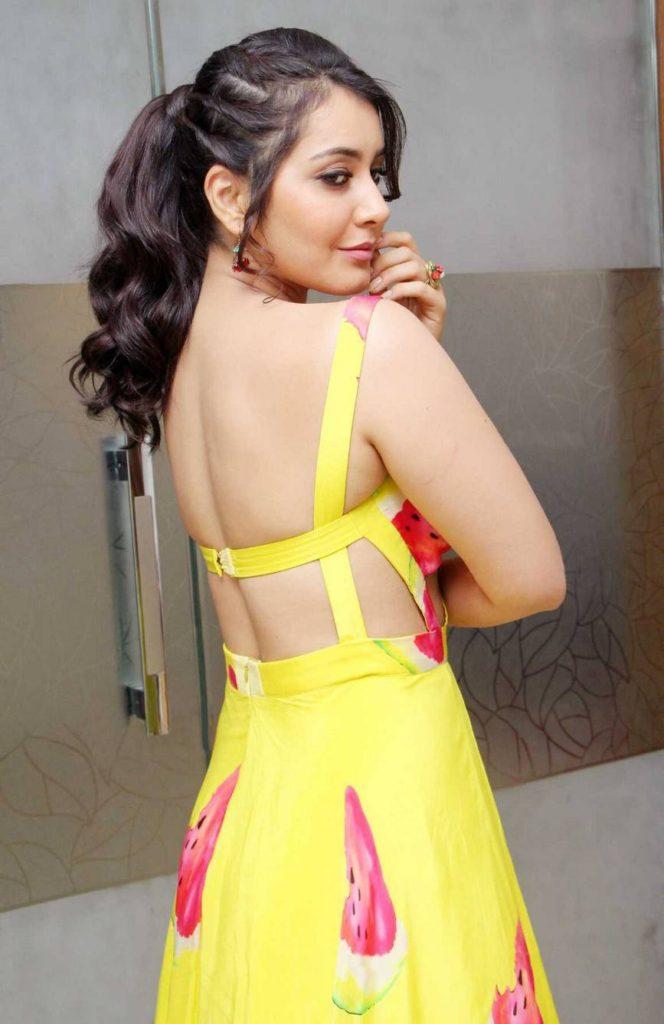 Raashi Khanna Hot Backless Backside Images
