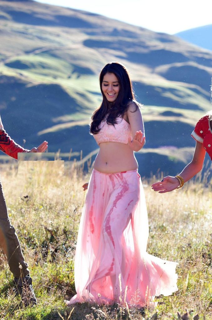 Raashi Khanna Hot Navel Images In Lehanga Choli
