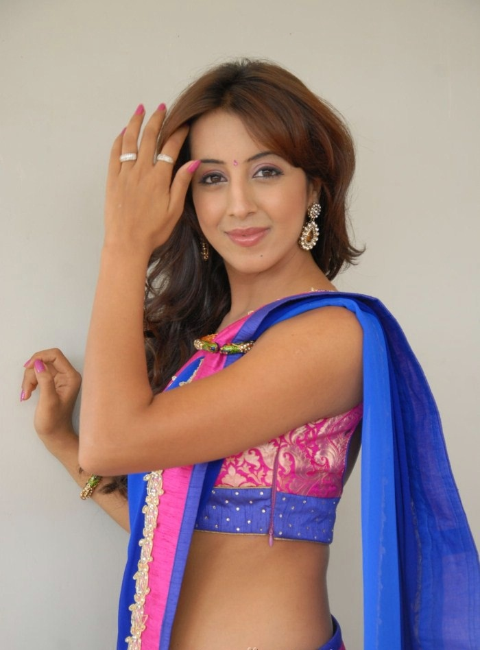 Sanjjanaa Archana Galrani Photos In Saree