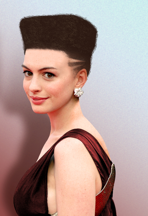 Anne Hathaway Attractive Hair Style Images