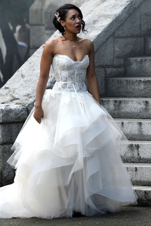 Candice Patton In Marriage Gown Images