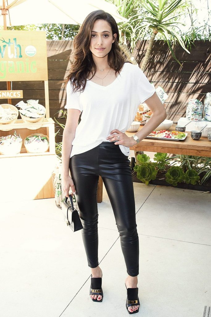 Emmy Rossum Photos In Jeans Top