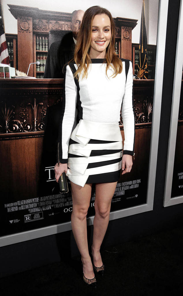 Leighton Meester Hot Images In Short Dress