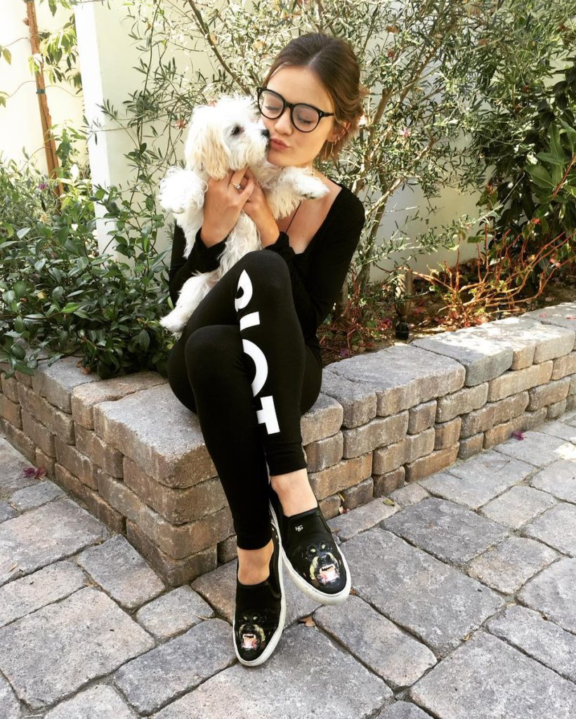 Lucy Hale Pics With His Dog