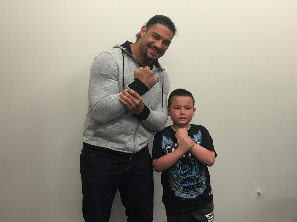 Wrestler Roman Reigns With Children
