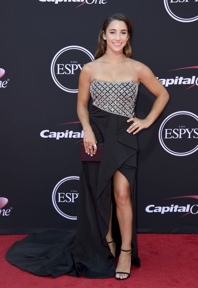 Aly Raisman Photoshoots At Award Show