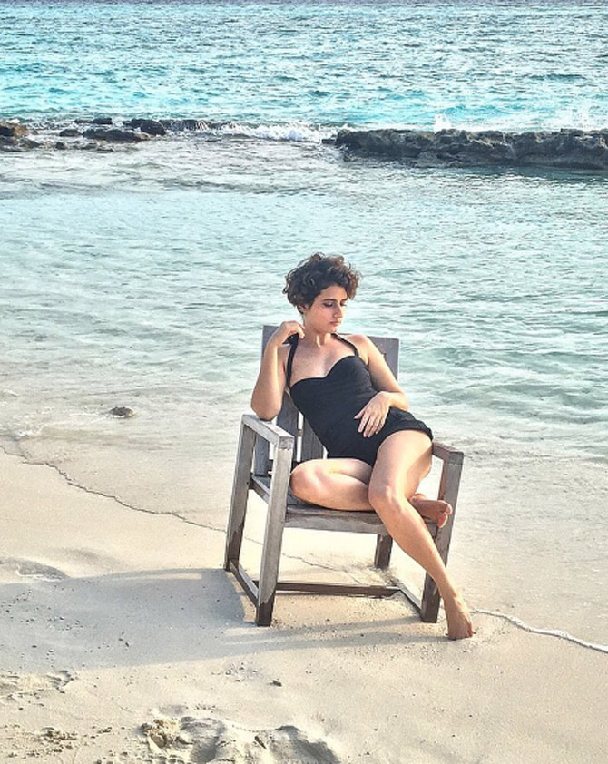 Fatima Sana Shaikh In Swimsuit Pics Photoshoot