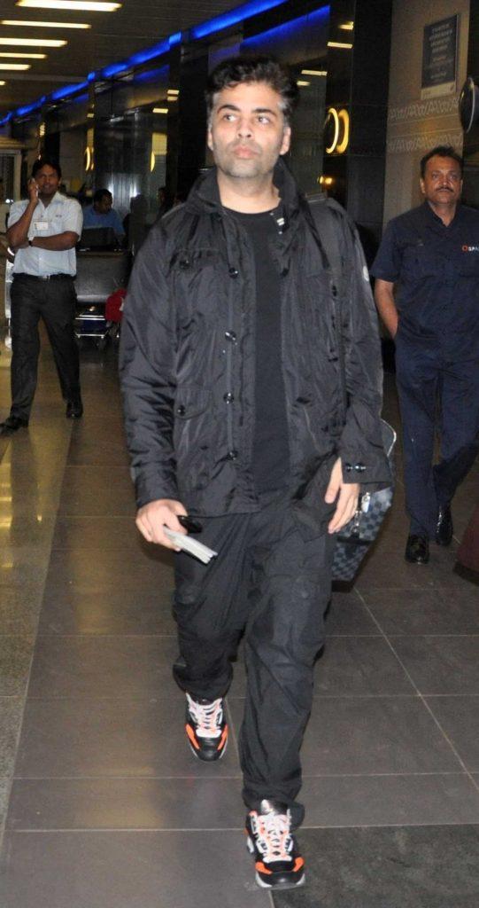 Karan Johar At Airport Look Images