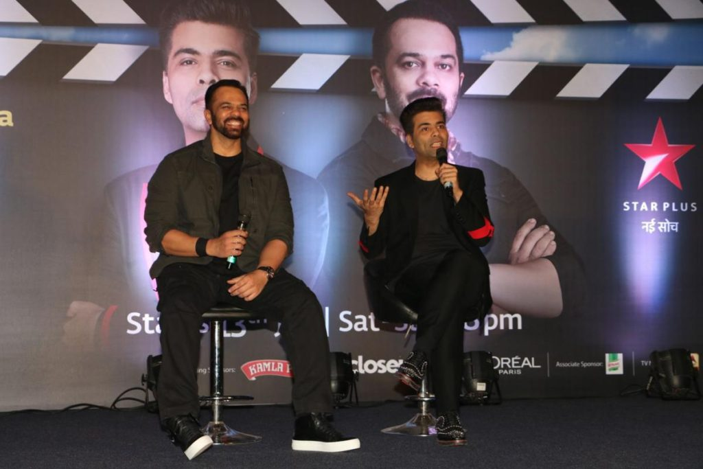 Karan Johar With Rohit Shetty Pictures