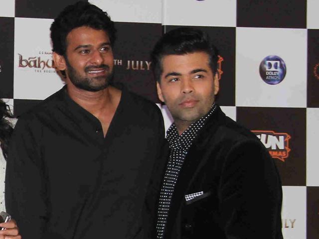 Karan Johar With South Superstar Prabhas Pictures