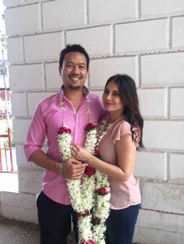 Minissha Lamba Pictures With His Husband