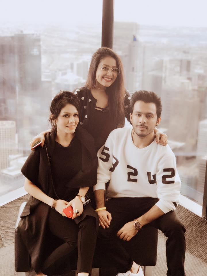 Neha Kakkar With His Brother Tony Kakkar Pics