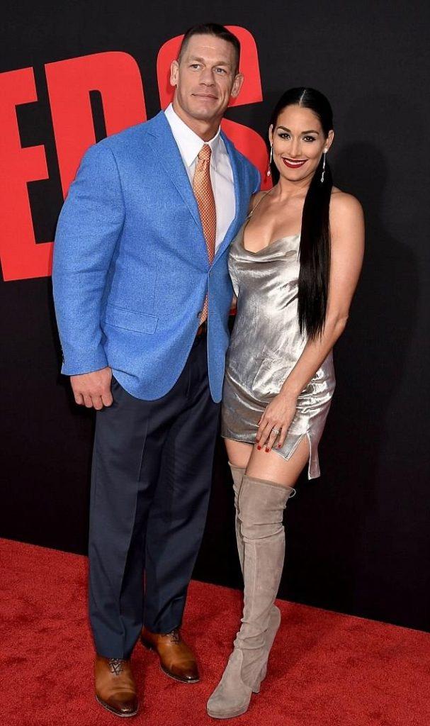 Nikki Bella Cute Pics With John Cena