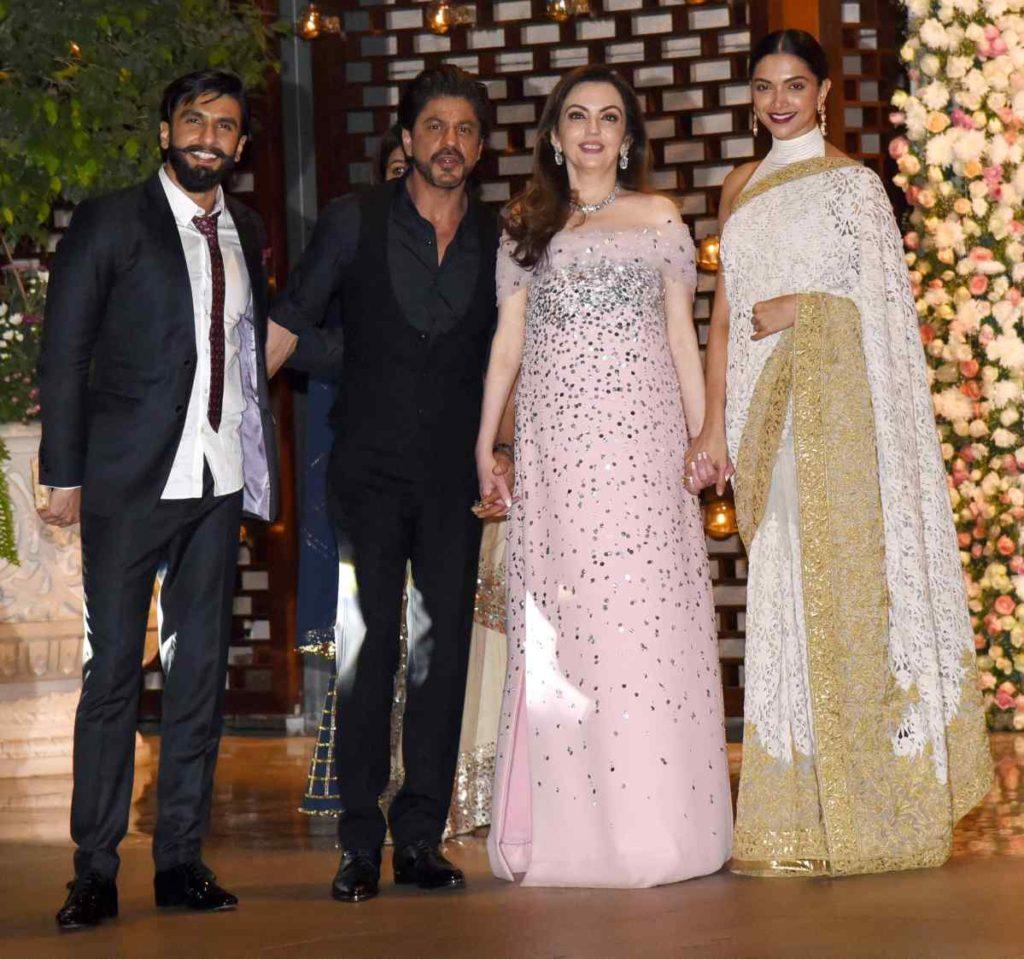 Nita Ambani Photos With Shahrukh Khan, Ranveer Singh & Deepika Padukone