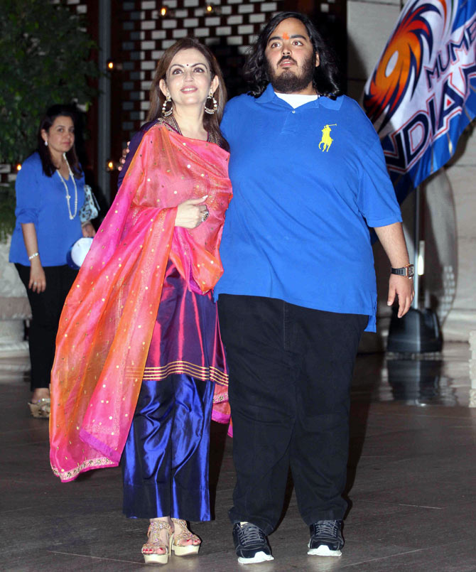 Nita Ambani Photoshoots With His Son