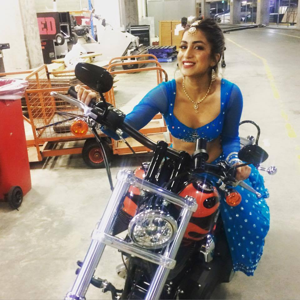 Pallavi Sharda Hot Pics On Bike
