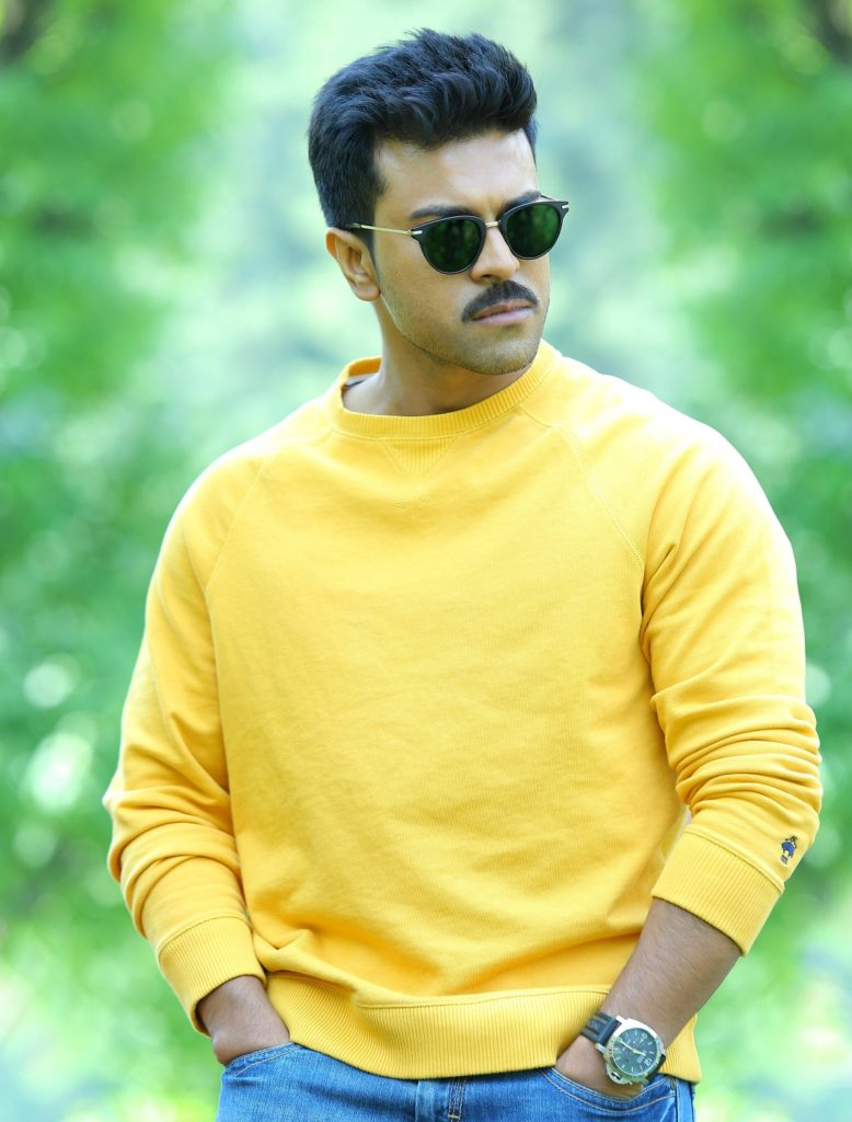 Ram Charan In Yellow T-Shart Images