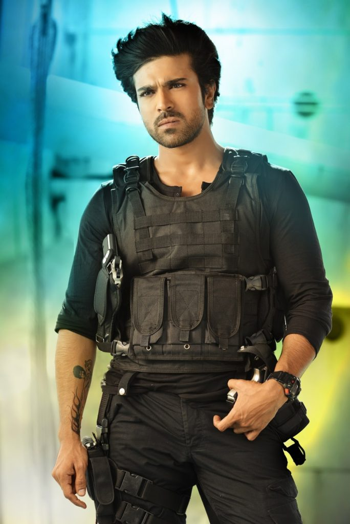Ram Charan With Gun Pictures