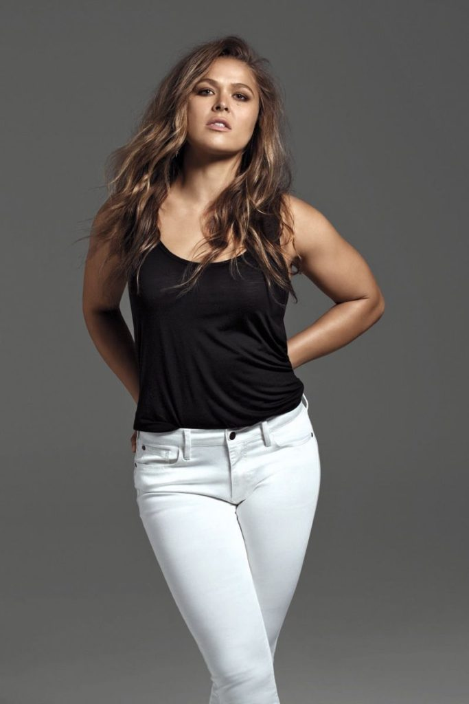 Ronda Rousey Cute Images In Jeans Top