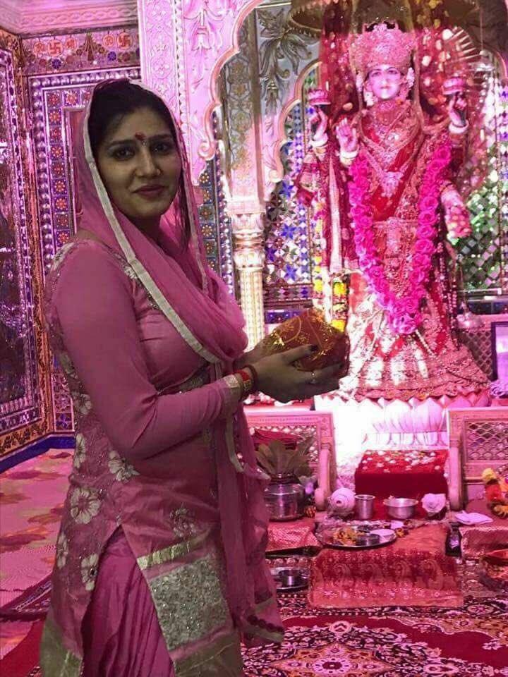Sapna Choudhary Images At Tample