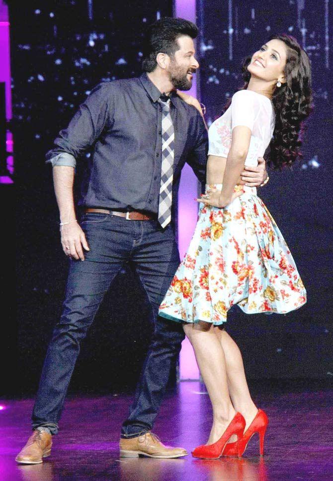 Shakti Mohan With Anil Kapoor At Dance Indan Dance Show