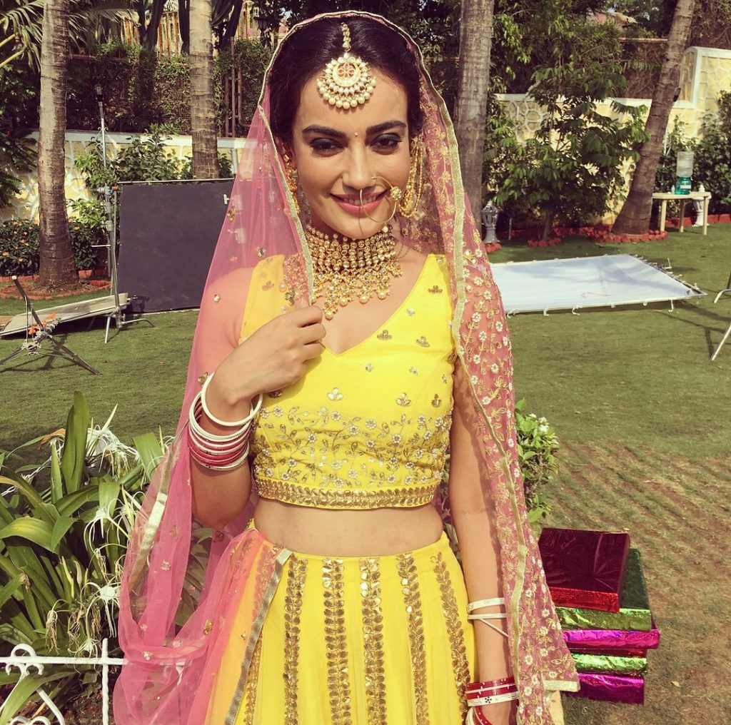 Surbhi Jyoti Pictures In Lehanga Choli