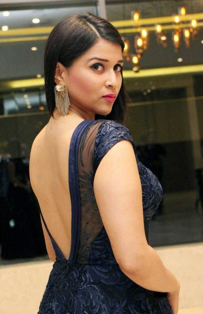 Mannara Chopra Hot Images In Backless Clothes