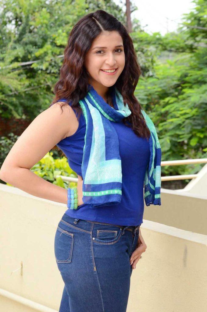 Mannara Chopra Hot In Jeans Top Wallpapers