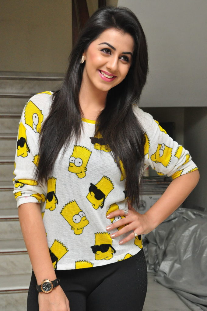 Nikki Galrani Hot Images In Jeans Top