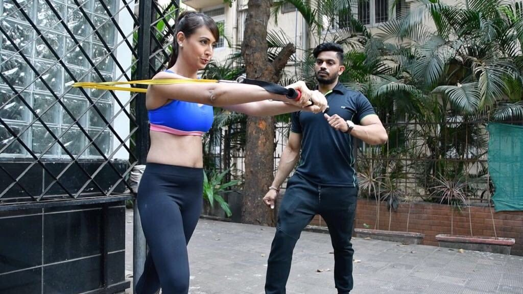 Preeti Jhangiani Hot Images In Gym