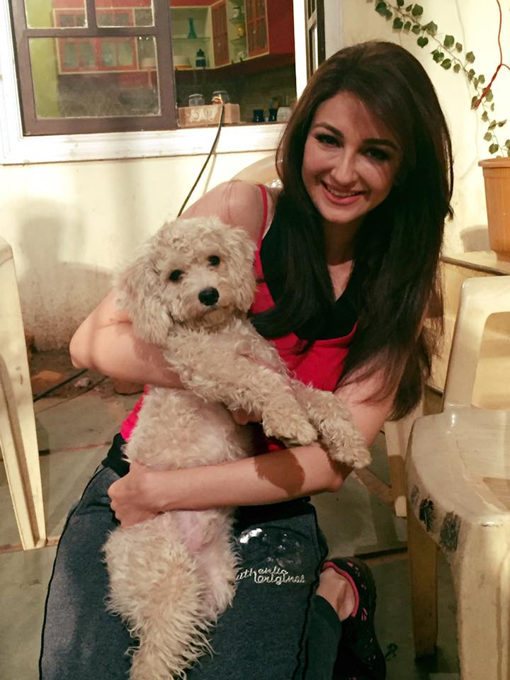 Saumya Tandon New Pictures With Puppy